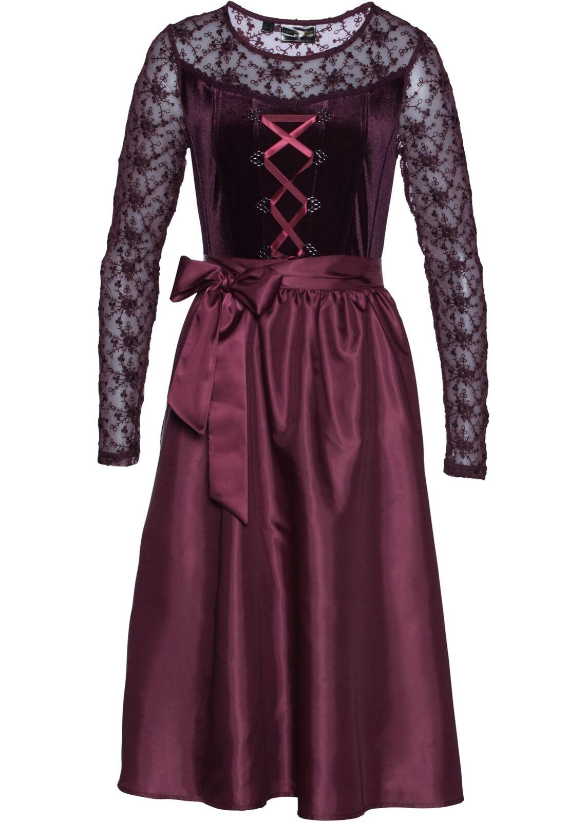 Samt-Dirndl    Gr. 42 Holunderbeere Damenkleid Midi-Dress Trachten-Kleid Neu | Ausgezeichnete Qualität  | Schnelle Lieferung  | Bekannt für seine hervorragende Qualität  c78cd1