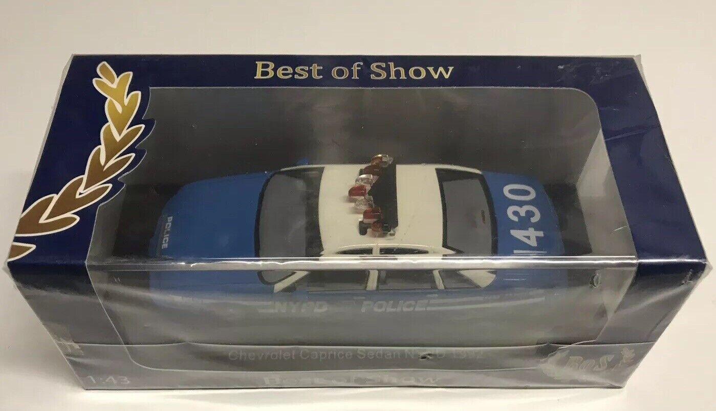 Best of Show Bos 1992 Chevrolet Caprice coche de policía de Nueva York Departamento de Policía 1 43 Nuevo en Caja
