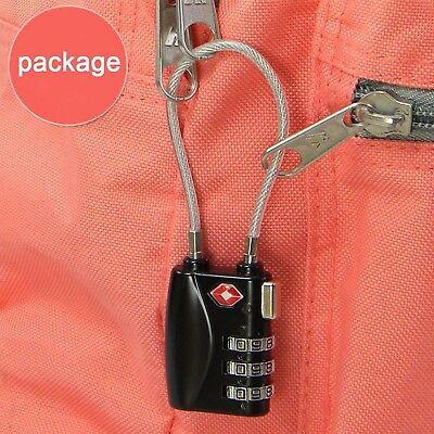Suitcase Locks TSA-Accepted Nickel Set-Your-Own Combination Luggage Padlocks CA