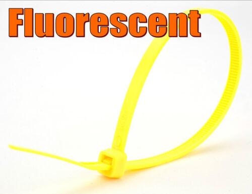Fluorescente Cavo Fascette Nylon Plastica Cinghie 20,40,60,100 500