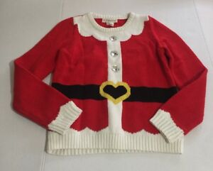 image is loading if it were me girls santa knit christmas