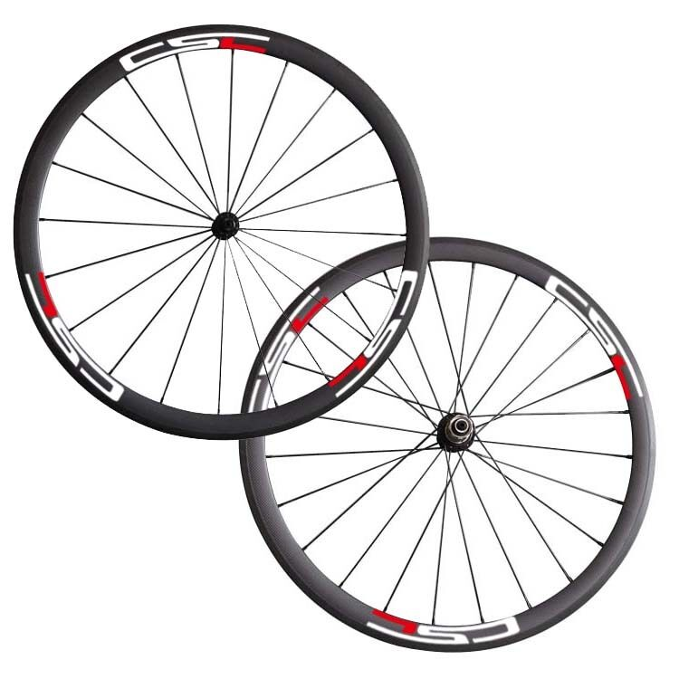 23 Wide 38mm Clincher carbon bike road wheelset CSC decals 1490g only
