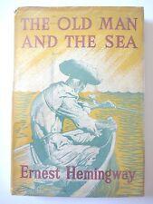 THE OLD MAN AND THE SEA by ERNEST HEMINGWAY 1953 HC w/ JACKET UK NOVEL FISHING
