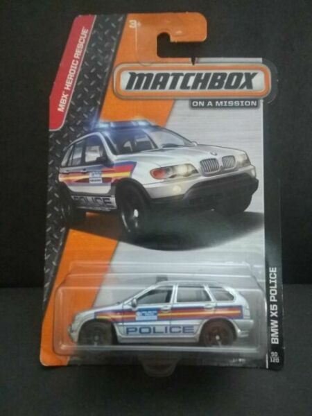 Matchbox BMW X5 Silver Police MBX Heroic Rescue On A Mission 90//120