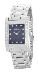 c4bd5e68456 Image is loading Fendi-Orologi-Women-039-s-Black-Diamond-Dial-