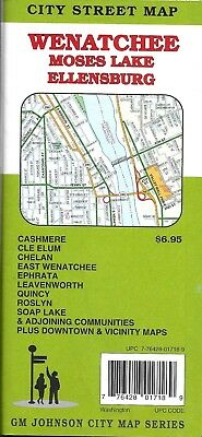 City Street Map of Wenatchee, Moses Lake, Ellensburg, WA, by GMJ Maps on banks lake map, edgewood map, lake vanda map, leavenworth map, orting map, moses lake washington map, mossyrock map, syracuse map, royal city map, zillah map, ravensdale map, lynden map, lake roosevelt map, port townsend map, desert aire map, nooksack map, grand coulee map, ellensburg map, port angeles map, wapato map,
