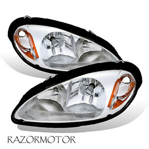 2001-2005 Replacement Headlight Pair For Chrysler PT Cruiser w/Bulb