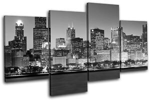 Superieur Image Is Loading Chicago Cityscape City MULTI CANVAS WALL ART Picture