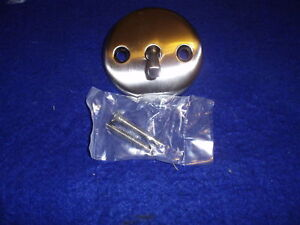 BRUSHED NICKEL TRIP LEVER WASTE OVERFLOW FACE PLATE NIB LOW S/H