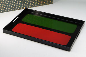 NEW-Japan-Modern-style-Wooden-Tray-Red-Green-Black-Free-Shipping-701k01