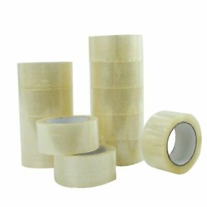 "36 ROLLS CLEAR CARTON SEALING PACKING SHIPPING TAPE 2/"" 1.8 MIL 110 Yards 330/'"