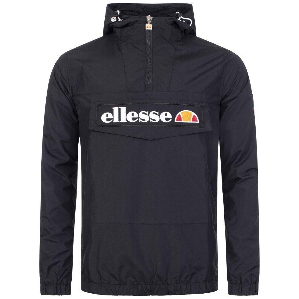 Ellesse Men's Mont OH Jacket SHS06040 Full Sleeve Overhead Hooded in Anthracite
