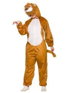 4cb321fcd Adults Deluxe Lion Costume King Animal Fancy Dress Jungle Book Week ...