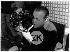 ORSON WELLES Cigare CAMERA Une histoire immortelle TV Tournage Photo 1967