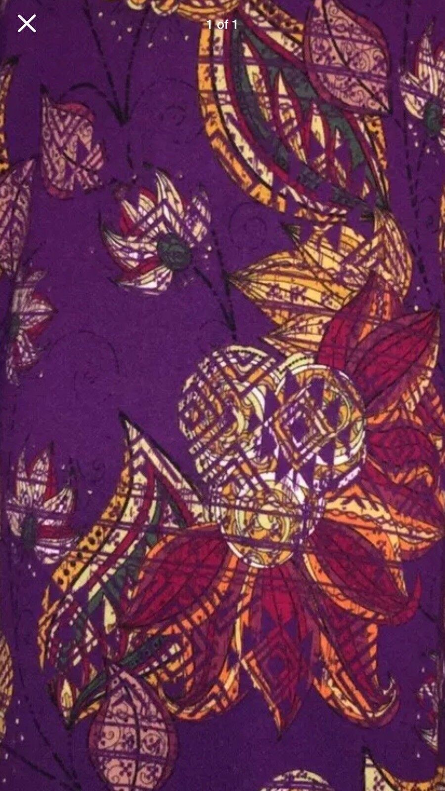 Xs Lularoe Vintage Sarah Gorgeous Purple Purple Purple Dahlia Vines Floral NWT Major Unicorn eb7092