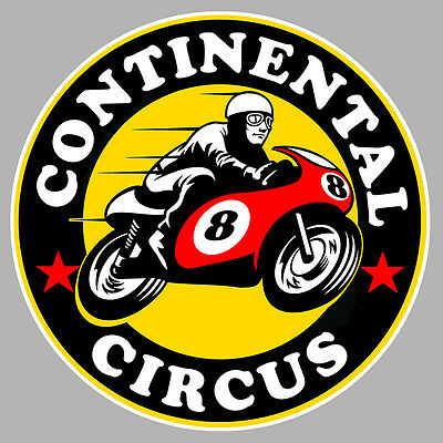 Badges, Insignes, Mascottes Capable Continental Circus Gp500 Vintage Biker 7,5cm Autocollant Sticker Moto Ca165d Automobilia