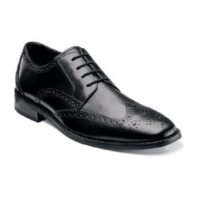 Zapatos para hombre de negro cuero negro de de ala Buey Florsheim expresaran elegante 14137-001 9975de