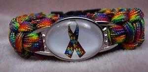Autism Awareness Bracelet Puzzle Bracelet Paracord 1 Adult Ribbon Wristband