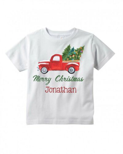 Antique Truck ~ Cute ~ Christmas Gift ~ Personalized Infant Toddler Shirt