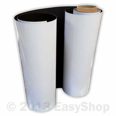 Magnetic Sign Vinyl Rolls White Flexible 0.85mm Vehicle Grade Sheet 620mm X 5m