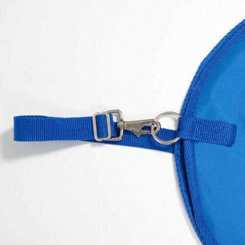 SLOW FEEDER HAY BAG HAYNET STRONG WATERPROOF FABRIC WITH MESH BLACK /& BLUE