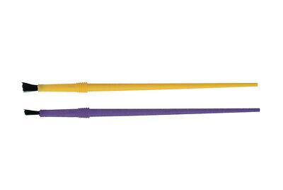 Lot 25 New Fishing Rod Building Epoxy Finishing Yellow Nylon Disposable Brushes