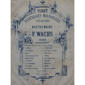 Wachs-Frederic-Moses-Rossini-Novelty-Piano-4-Hands-19th-Sheet-Music-Sheet-Music