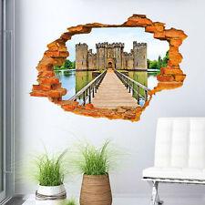3D Extraíble Arte Frases Vinilo Castillo Adhesivo De Pared Mural Hogar