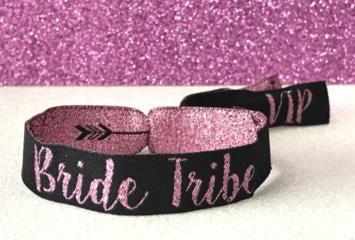 wristband Bride Tribe /'Rose Gold/' Hen Party Wristbands ~ Bracelets accessories