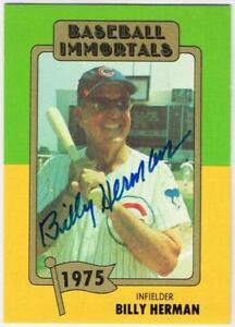 Original-Autograph-PSA-DNA-of-Billy-Herman-on-a-Baseball-Immortals-Card