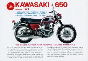Image Is Loading 1960 039 S KAWASAKI W1 650 VINTAGE MOTORCYCLE