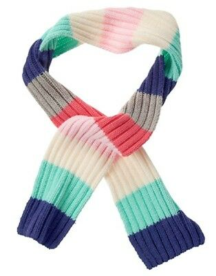 GYMBOREE ENCHANTED WINTER PINK WHITE /& TEAL STRIPED SWEATER SCARF 1-SIZE NWT