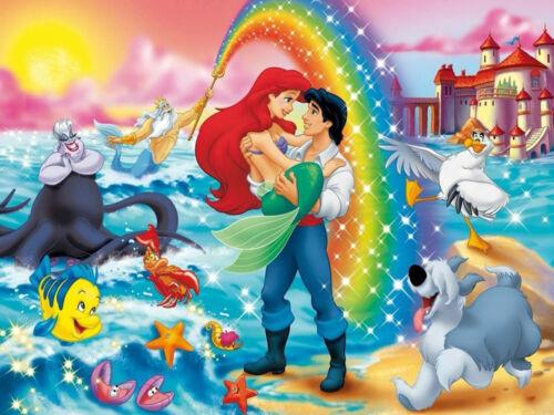 Cartoon Mermaid Prince Rainbow Castle Dog Full drill 5D Diamond Painting N6176