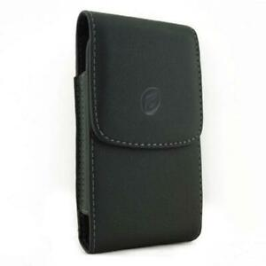 BLACK-LEATHER-CASE-SIDE-COVER-PROTECTIVE-POUCH-BELT-CLIP-I5R-for-Smartphones