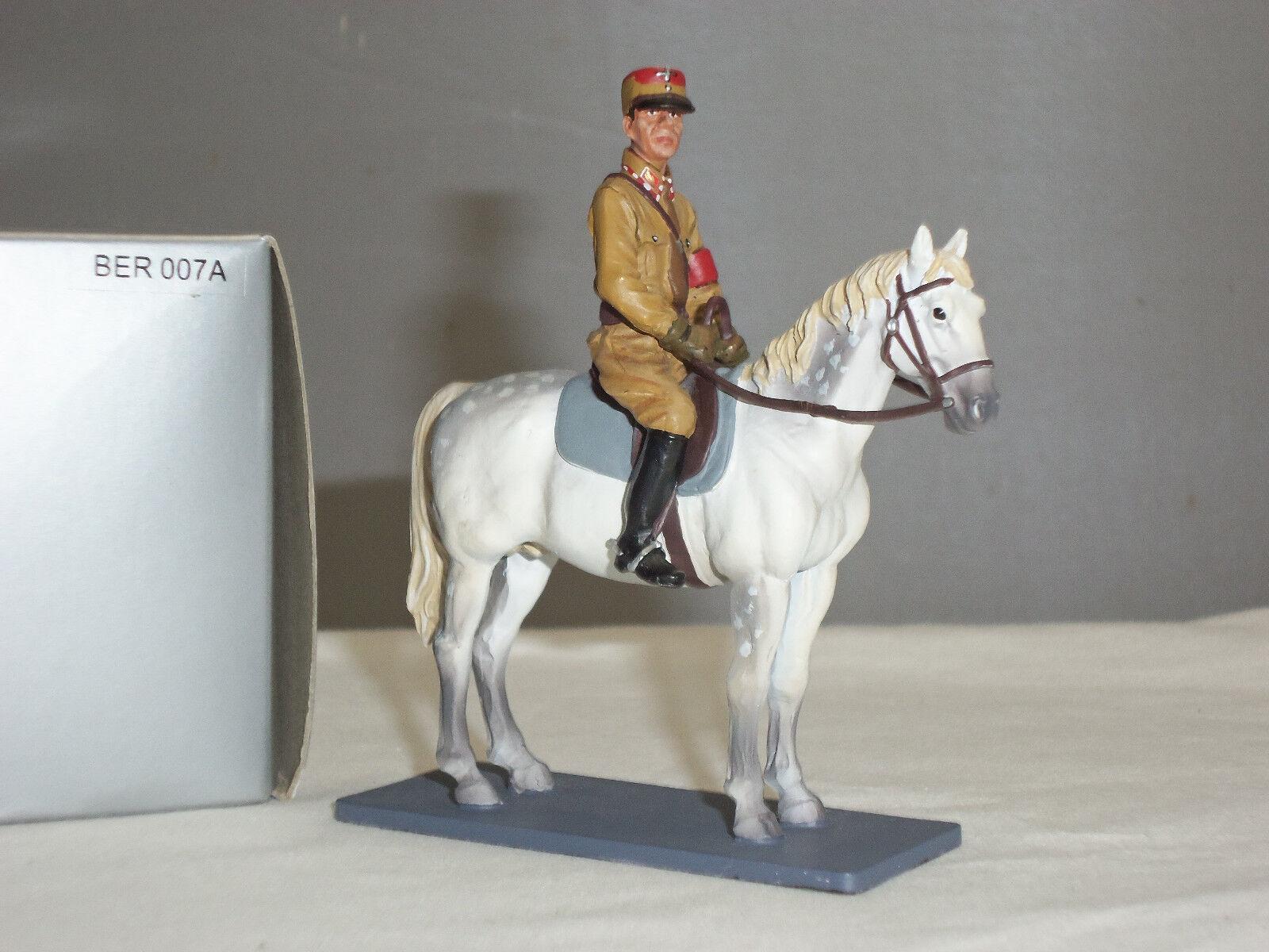 THOMAS GUNN BER007A GERMAN BERLIN WORLD WAR TWO OFFICER MOUNTED TOY SOLDIER