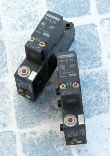 PS1-E23 24V Vanne contrôle pneumatique Lot de 2 Telemecanique Parker PS1-E11