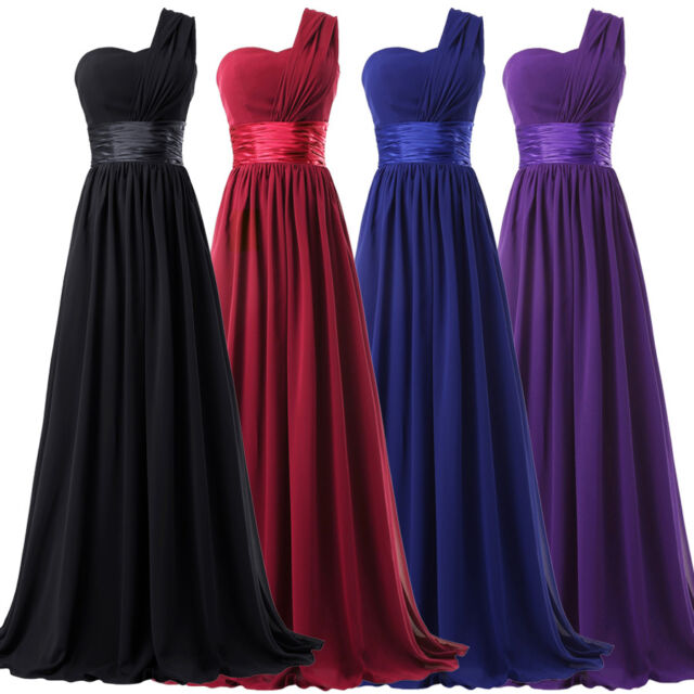 Women Chiffon Masquerade Prom Bridesmaid Evening Ball Gown Party Cocktail Dress