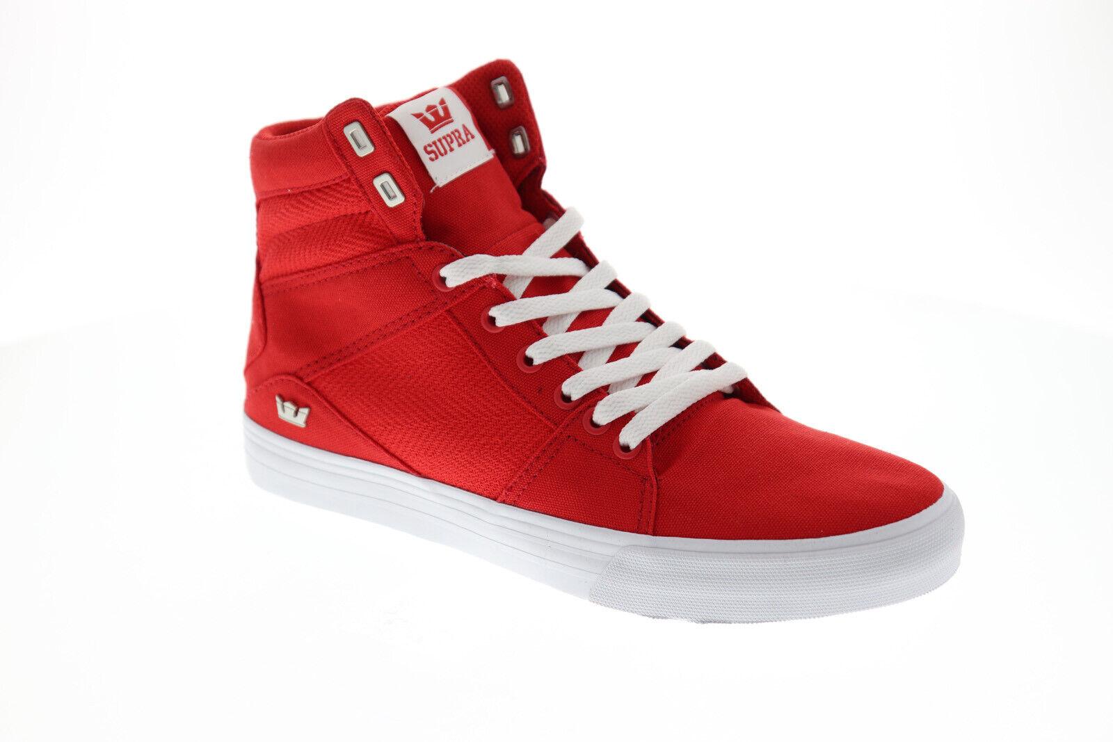 Supra Aluminum Para Hombre Rojo Textil Zapatos Tenis altas con cordones