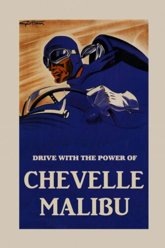 Automobile Car Drive With The Power of Chevelle Malibu Poster Repro FREE S//H