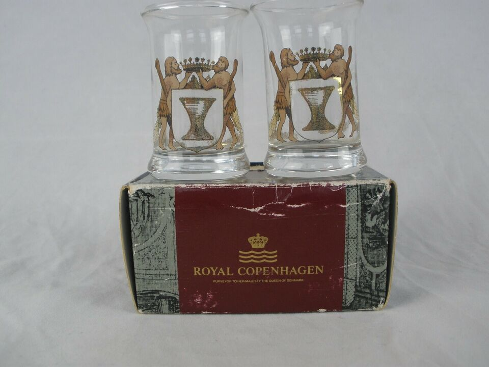 Glas, Et Par Kongelige Dramglas, Royal Copenhagen