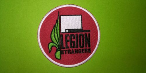 A574 PATCH ECUSSON LEGION ETRANGERE ROUGE 8 CM
