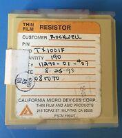 Tx1001f California Micro Devices Resistor Thin Film Asic 190/units