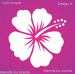 STENCIL Hibiscus Flower A Beach Tropical Aloha Garden Art ...