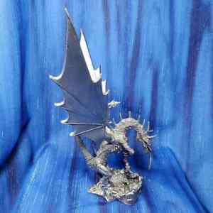 Mother-039-s-Love-Large-Dragon-Pewter-Figurine-Rawcliffe-US-Made-Knight-Dinner-NEW