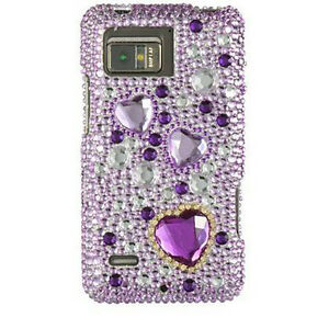 Purple-Hearts-Crystal-Diamond-Bling-Hard-Case-Cover-for-Motorola-Droid-Bionic