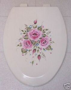 Incredible Details About Hp Roses Toilet Seat Elongated Bone Pink Roses Blue Lamtechconsult Wood Chair Design Ideas Lamtechconsultcom