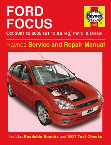 Haynes Manual 4167 Ford Focus 1.4 1.6 1.8 2.0 Zetec Petrol /& Diesel 2001-2005