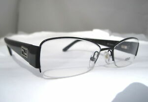 bb39cf4950 Fendi F 877 001 Semi Rimless Eyeglasses Black Frame ITALY Free ...