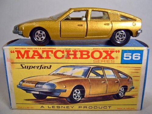 Matchbox SF nº 56a BMC Pininfarina oro metalizado nuevo en  g  Box