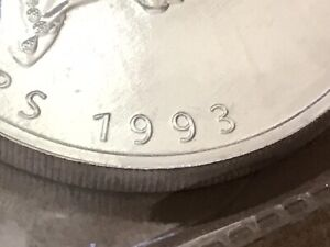 1993 Canadian $5 SML Silver Maple Leaf .999 Pure 1 ounce SHIPS FREE in Canada